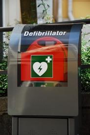 Defibrillator in der Stadt